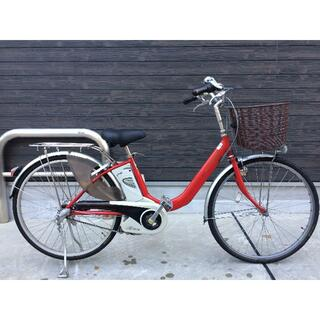 Panasonic - 地域限定送料無料 ビビ ライトユー 軽量車 5AH 赤 神戸市 電動自転車