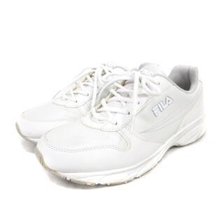 フィラ(FILA)のフィラ FILA スニーカー シューズ 24.5cm 白 ホワイト 靴 ECR8(スニーカー)