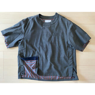 sacai - sacai 20ss suiting pullover グレー
