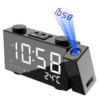 最新版デジタル時計 LED 投影 時計 卓上時計 四段輝度調節 目覚まし時計