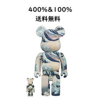 MEDICOM TOY - BE@RBRICK 葛飾北斎「神奈川沖浪裏」 100% & 400%