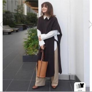 Ameri VINTAGE - ETRE TOKYO サイドオープンニットベストワンピース エトレ