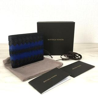 ボッテガヴェネタ(Bottega Veneta)の未使用品 ボッテガ・ヴェネタ 二つ折り財布 ラムスキン ブラック 55(折り財布)