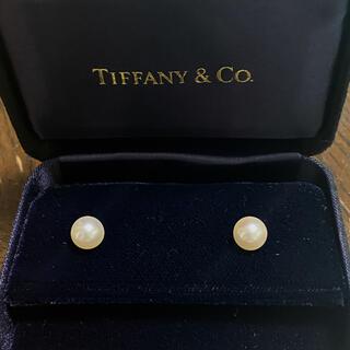 ティファニー(Tiffany & Co.)の希少 Tiffany パールピアス ゴールド k18  750  (ピアス)