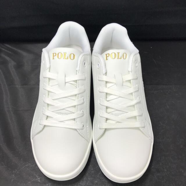 POLO RALPH LAUREN(ポロラルフローレン)のポロ ラルフローレン スニーカー シンセティックレザー 24㎝ 新品未使用品 レディースの靴/シューズ(スニーカー)の商品写真