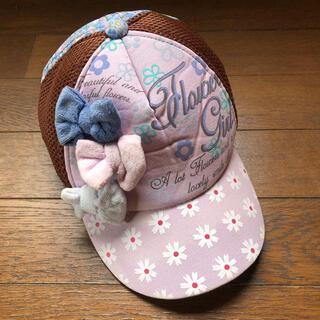 クレアーズ(claire's)の【クレアーズ】女の子 リボン付 花柄 メッシュ キャップ 54cm(帽子)