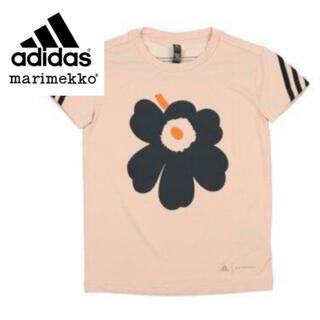 マリメッコ(marimekko)の希少★限定品★adidas × marimekko Tシャツ ピンク 160cm(Tシャツ(半袖/袖なし))