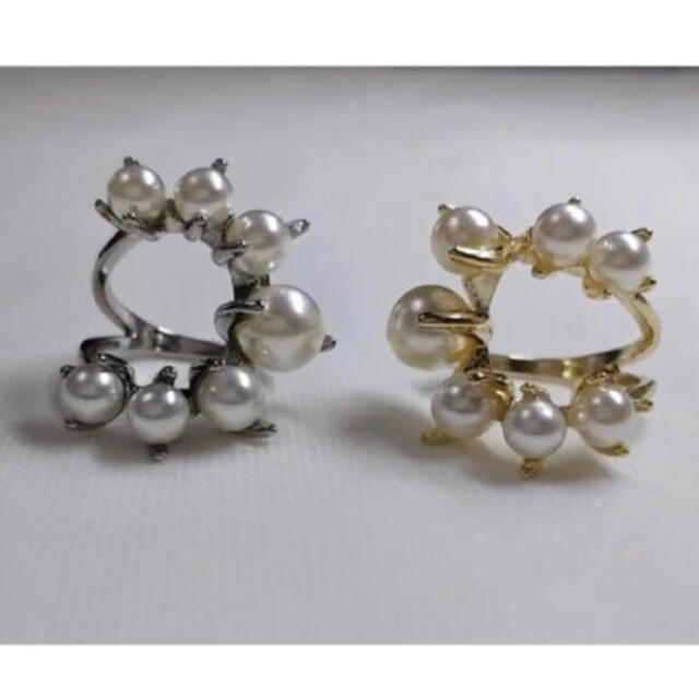 Ameri VINTAGE(アメリヴィンテージ)の【パールデザインリング】インポートリングzara enfold drawer レディースのアクセサリー(リング(指輪))の商品写真