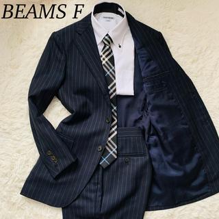 ビームス(BEAMS)のビームスエフ シングル セットアップスーツ 段返り 3ボタン ネイビー Mサイズ(セットアップ)