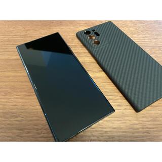 ギャラクシー(Galaxy)のGalaxy Note20 Ultra黒 au△ SIMフリー カーボンケース付(スマートフォン本体)