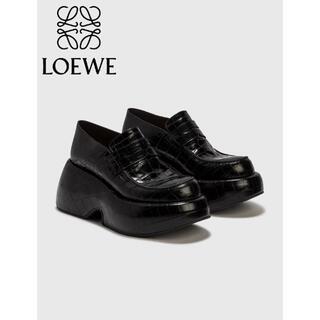 LOEWE - LOEWE ウェッジ スリップ オン ローファー