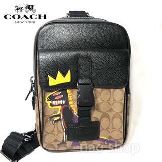 コーチ(COACH)の【新品】COACH バスキア トラック パック シグネチャーキャンバス(ボディーバッグ)