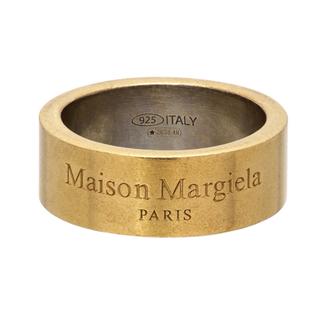 Maison Martin Margiela - maison margiela メゾンマルジェラ ゴールド ロゴリング新品M