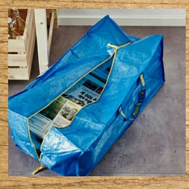 IKEA(イケア)の新品イケア大容量♪人気♪新品 IKEA キャリーバッグ トロリー♪持ち運びに便利 レディースのバッグ(エコバッグ)の商品写真
