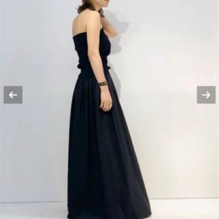 アパルトモンドゥーズィエムクラス(L'Appartement DEUXIEME CLASSE)の新品タグ付 AP STUDIO SCENTOF ブラックギャザードレス(ロングワンピース/マキシワンピース)
