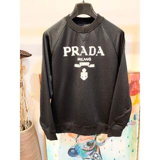 PRADA - PRADA ブランドロゴ ブラック スウェット