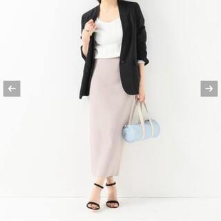 ジャーナルスタンダード(JOURNAL STANDARD)の美品 コットンフィットリブスカート フリーサイズ ベージュ(ロングスカート)