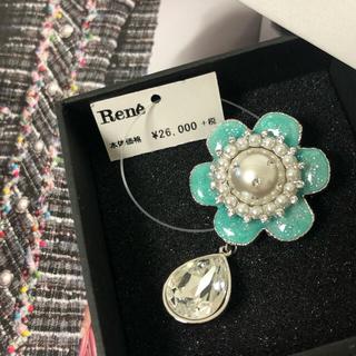 René - Rene 新品タグ付き ルネ お花ブローチ 箱付き