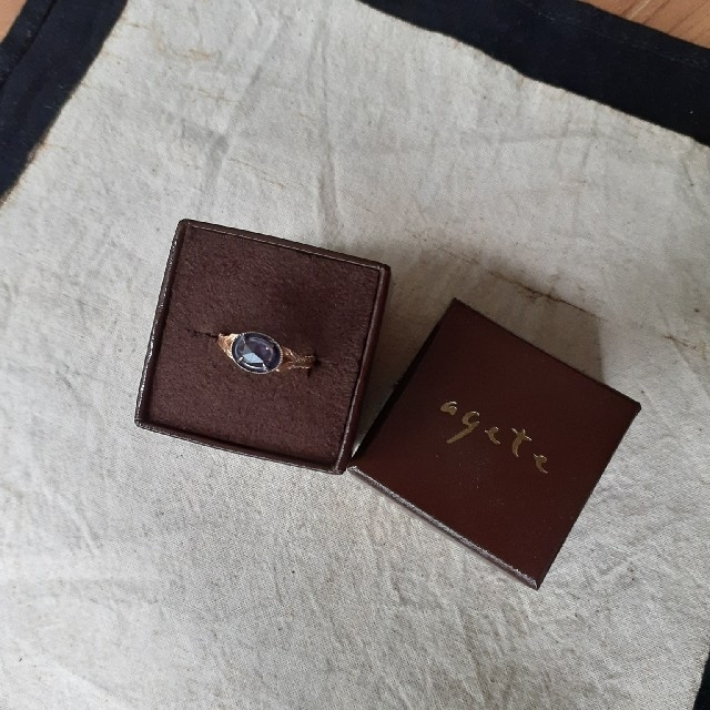 agete(アガット)のアガット アイオライトリング 11号 レディースのアクセサリー(リング(指輪))の商品写真