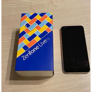エイスース(ASUS)の【極美品】ZenFone Live(L1) シマーゴールド SIMフリー(スマートフォン本体)