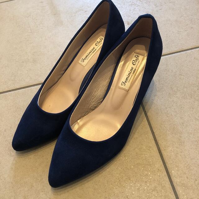 ESPERANZA(エスペランサ)のスエードパンプス 23.5cm レディースの靴/シューズ(ハイヒール/パンプス)の商品写真