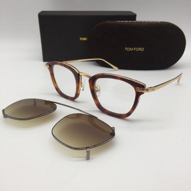 TOM FORD(トムフォード)のトムフォード TF5496 2WAY メガネ 鼈甲 メンズのファッション小物(サングラス/メガネ)の商品写真