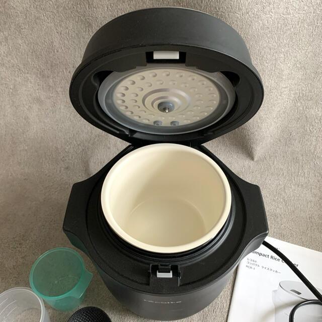 Francfranc(フランフラン)のrecolte レコルト コンパクトライスクッカー ブラック 2.5合 スマホ/家電/カメラの調理家電(炊飯器)の商品写真