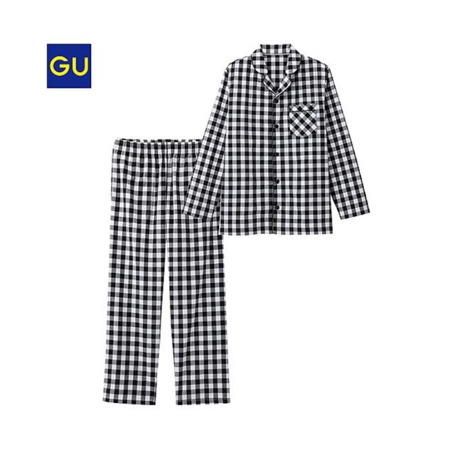 GU(ジーユー)のGU ギンガムチェックパジャマ レディースのルームウェア/パジャマ(パジャマ)の商品写真