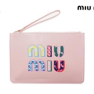 ミュウミュウ(miumiu)の【新品】 MIU MIU ノベルティ ポーチ ポシェット PARFUMS ピンク(ポーチ)