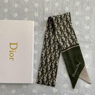 クリスチャンディオール(Christian Dior)の美品 小物 クリスチャンディオール スカーフ グレーン(バンダナ/スカーフ)