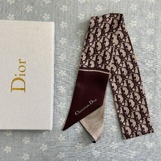 クリスチャンディオール(Christian Dior)の美品 小物 クリスチャンディオール スカーフ ブラウン(バンダナ/スカーフ)