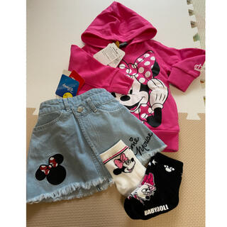 BABYDOLL - BABYDOLL/Disney ミニー 子ども服セット*90 新品タグ付き