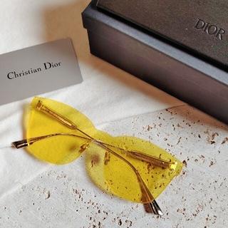 ディオール(Dior)の新品 Dior  カラークエイク サングラス yellow(サングラス/メガネ)