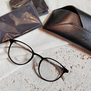 ディオール(Dior)の新品 Dior   クリアラウンド メガネ black unisex(サングラス/メガネ)