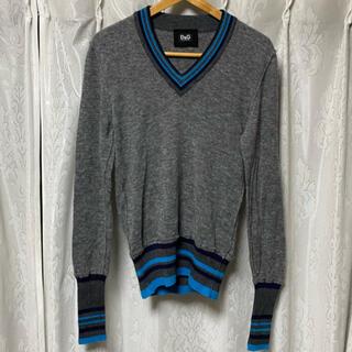 ドルチェアンドガッバーナ(DOLCE&GABBANA)のDOLCE&GABBANA D&G カシミヤ混 Vネックセーター(ニット/セーター)