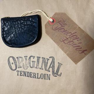 テンダーロイン(TENDERLOIN)の人気品! TENDERLOIN コインケース 財布 ブラック 黒 シープ レザー(コインケース/小銭入れ)