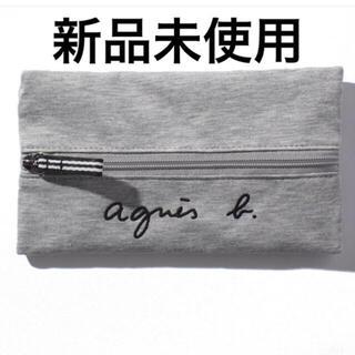 agnes b. - ロゴ刺繍ペンケース ポーチ