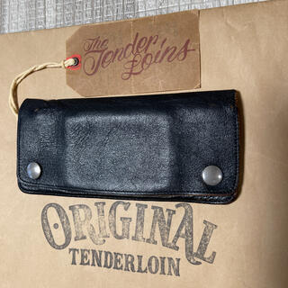 TENDERLOIN - 絶版! TENDERLOIN PORTER トラッカーウォレット 財布 黒 本革