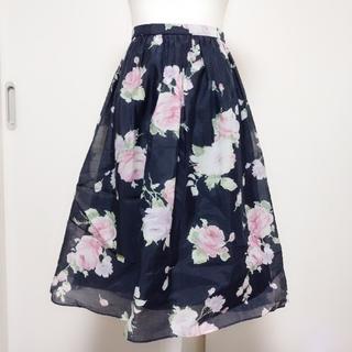 ウィルセレクション(WILLSELECTION)のウィルセレクション♡フィッシュテールフラワースカート(ひざ丈スカート)