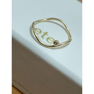 ete - 【ete】K18 ドロー ダイヤモンド リング