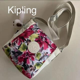 kipling - Kipling キプリング   ミニ ショルダーバッグ チャーム付 白