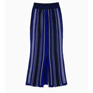 mame - mame スカート(Stripe HAMAGURI knit skirt)