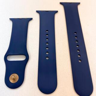 Apple Watch - アップルウォッチ ラバーベルト 紺 Apple Watch 42mm 44mm
