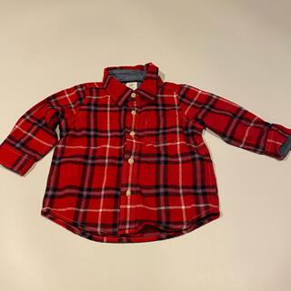 ベビーギャップ(babyGAP)のgapbaby チェックシャツ 6-12m 70(シャツ/カットソー)
