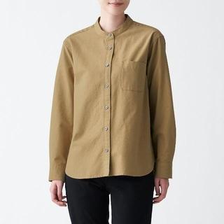 MUJI (無印良品) - 洗いざらしオックススタンドカラーシャツ  婦人L キャメル
