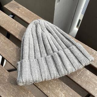 ユニクロ(UNIQLO)のUNIQLO/ユニクロ ニット帽 グレー(ニット帽/ビーニー)