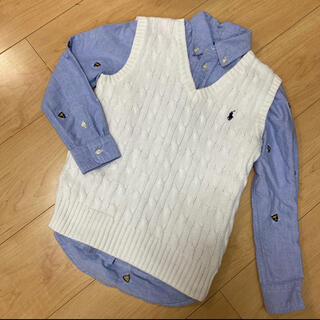 Ralph Lauren - 120サイズ ラルフローレン 2点セット ベスト ボタンシャツ セミフォーマル