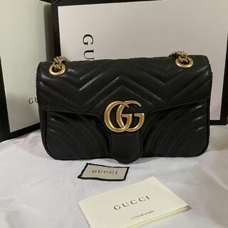 Gucci - GUCCI グッチGGマーモントキルティングスモールショルダーバッグ