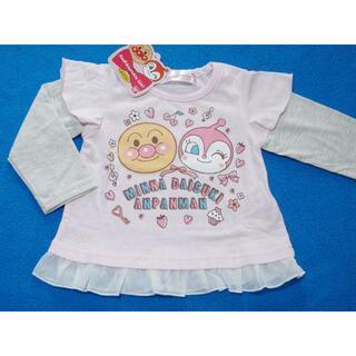 アンパンマン - 新品 90cm アンパンマン アンパンドキン裾シフォンフリル長袖Tシャツ ピンク