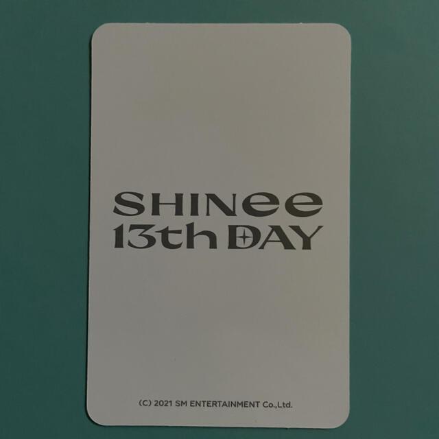 SHINee(シャイニー)のSHINee 『13th』トレカ オニュ エンタメ/ホビーのCD(K-POP/アジア)の商品写真